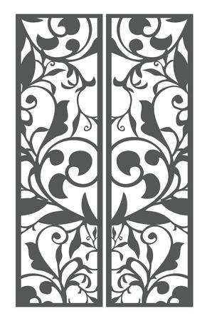 Vector Vintage Floral pattern bookmark size