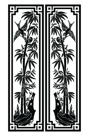 circulate: Vector Bamboo Bookmark size illustration isolated on white