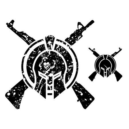 sparta: Vector Modern Sparta  Rifle Emblem Symbol