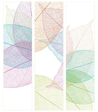 ベクトルの葉静脈クローズ アップ パターン背景、単純なリアルな肖像画