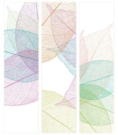 Vector Leaf Veins Closeup Pattern Background, simple realistic portrait Çizim