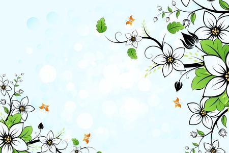 pink plumeria: Vector floral background