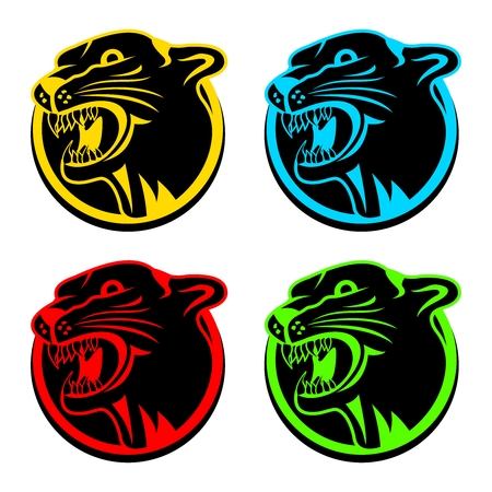 panther: Vector Artistic Puma Head Mascot Illustration, avatar, tattoo and drawing