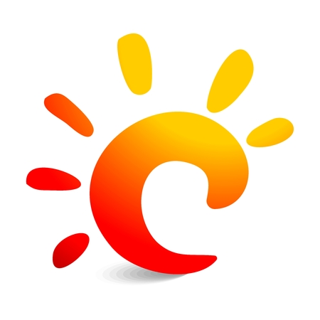sunbeams: Vector 3D Creative Sunshine Symbol Illustration, with shadow isolated on white background