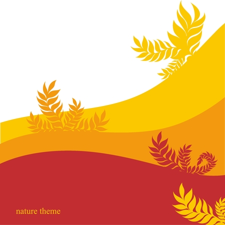 Vector Autum Tree Leaves Background Illustration