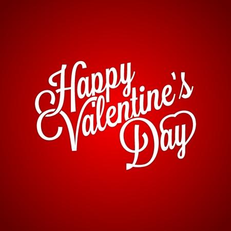 cursive: Vector Classic Happy Valentines Day Typographic, nostalgic cursive design