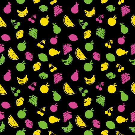 juicy: Vector Seamless Repeating Colorful Fruit Pattern
