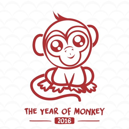 abstract gorilla: Monkey Doodle for Chinese New Year 2016