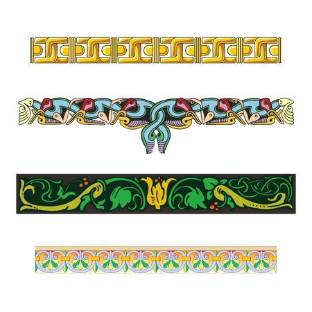 archaeology: Vector Seamless Repeating Pattern Illustration Collection, ancient archaeology classic