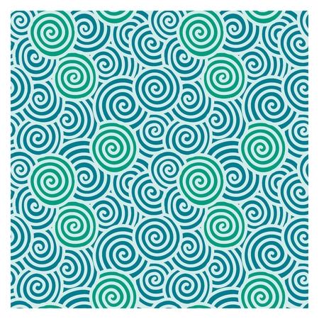 Vector Seamless Repetaing Japanse patroon illustratie, spiraal golf