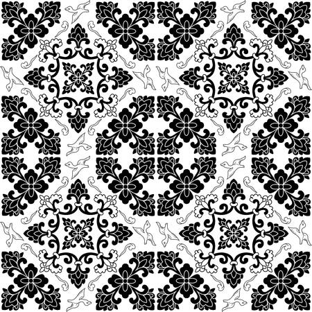 Vector Seamless Repeating Arabic Pattern Illustration, abstract geometric Çizim
