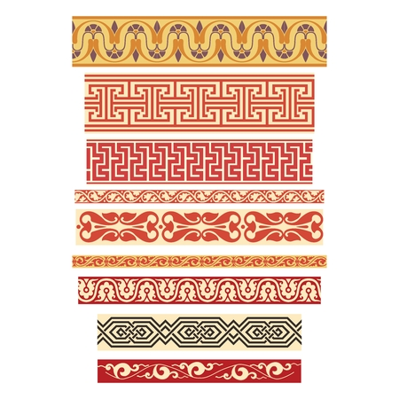 symmetrical: Vector Seamless Repeating Pattern Illustration Collection, symmetrical geometric Illustration