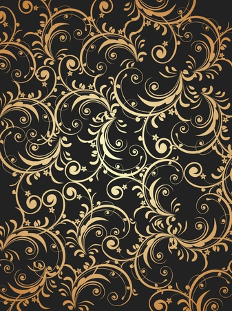 Vector Vintage Artistic Floral Scroll Fabric Texture Background Illustration