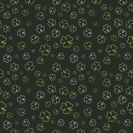 shamrock seamless: Vector Seamless Repeating Shamrock Pattern for Saint Patricks Day