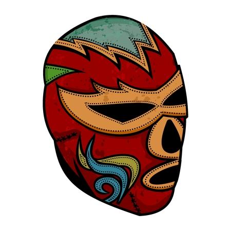 wrestler: Vector Artistic Vintage Lucha Libre Mask Illustration