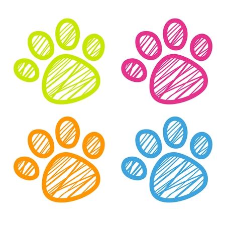 paws: Vector Cute Cartoon Dog Paw Design Illustration