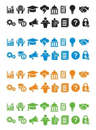 Vector Icon Set of Business Management, Minimal Flat Monochrome