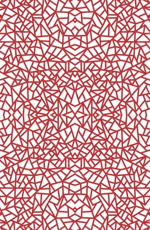 distract: Vector Seamless Abstract Red Pattern on white