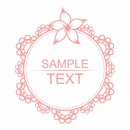 sewed: Vector Lace Motif Circle Border Decor isolated on white