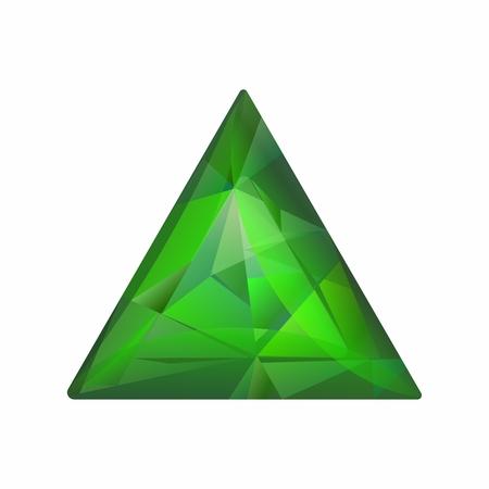 gemstones: Vector Realistic 3D Jewelry Gemstones isolated on white background Illustration