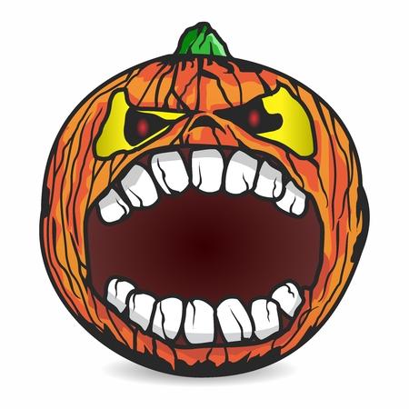 Vector Halloween Pumpkin Illustration isolated on white background Illustration