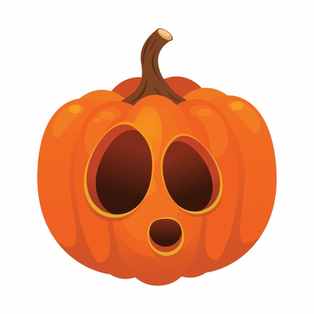 Vector Halloween Pumpkin Illustration isolated on white background Illustration