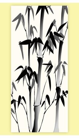 Tradizionale orientale cinese Acqua giapponese e dipinto Inchiostro della natura, alberi, piante e fiori