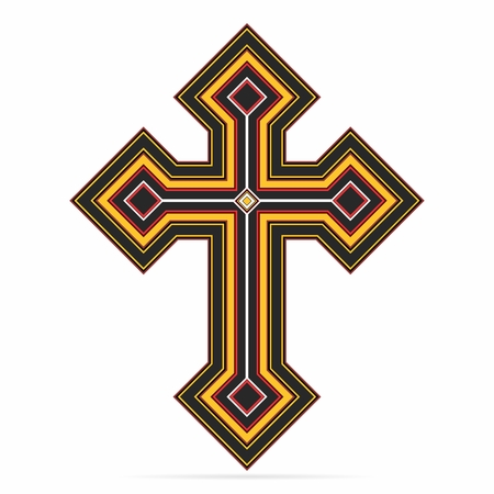 banish: Vector Creative Christian Crucifix Cross Illustration isolated on white background