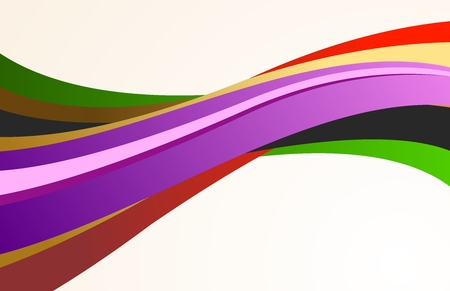 causal: Vector Abstract Creative Wavy Colorful Ribbon Background of Elegance Illustration
