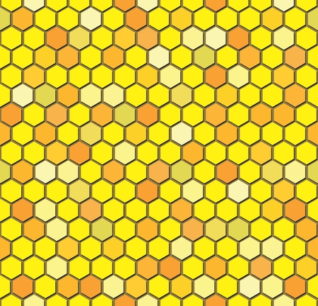 Vector Seamless Repeating Pattern of Hexagon Beehive Honeycombs