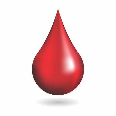 ベクトル 3 D 赤血ドロップ白背景に分離されました。  イラスト・ベクター素材