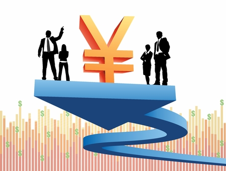Vector Conceptual Art of Financial Revenue Growth Report Illustration