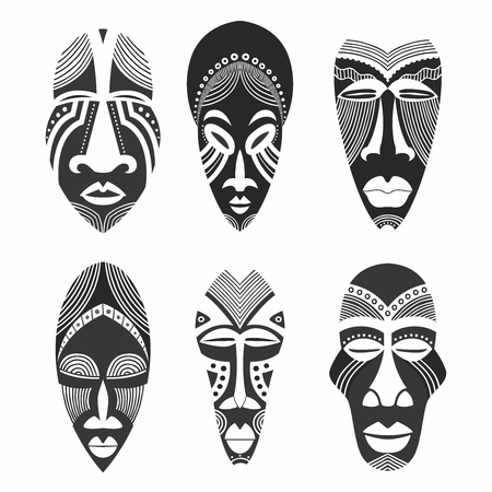 Vector Creative African Ethnic Tribal Mask Artwork Collection