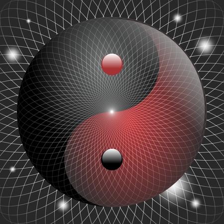 Vector Creativo Taoísta Yin Yang Símbolo Ilustración