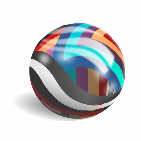 Abstract Creative Colorful Glass Sphere