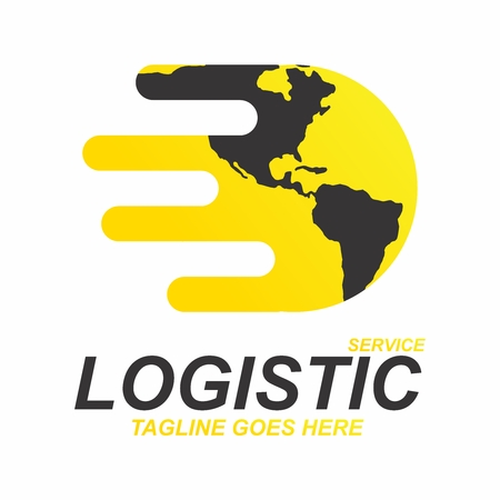 Vector creative contemporary icon concept for logistic service company.