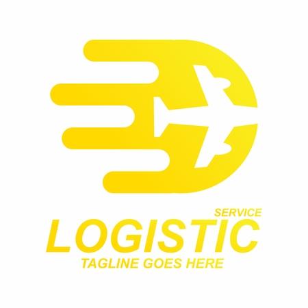 Vector Creative Contemporary Logo Concept for Logistic Service Company Illustration