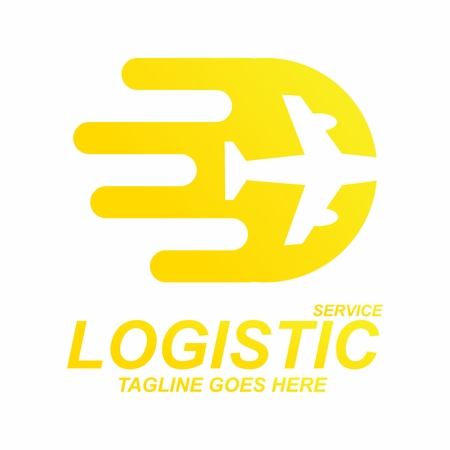 Vector Creative Contemporary Logo Concept for Logistic Service Company Illusztráció