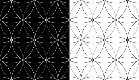 Vector seamless repeating geometric pattern, flower of life