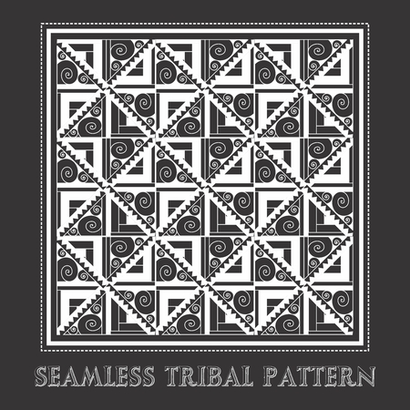 Vector Abstract hand-drawn tribal pattern texture, seamless repeating 向量圖像