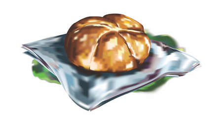 Painting of Old Fashion Bread Loaf