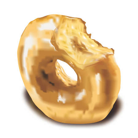 Realistic Donut Illustration vector 向量圖像