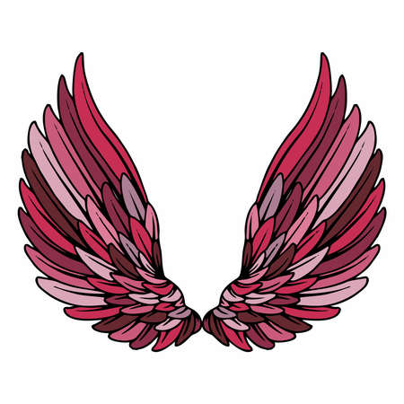Vector Red Angel Wings