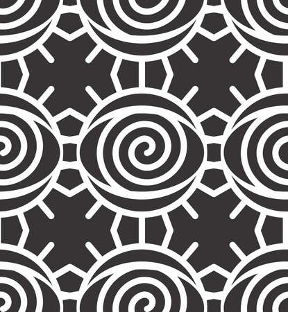 Sacred geometry and Abstract Symmetric alchemy symbol seamless pattern
