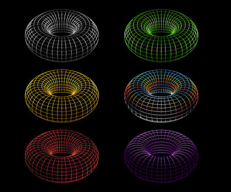 Sacred geometry and Eternal Torus shape in colors