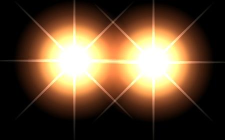 3d illustration of light on a black background. Glow to create a sense of celebration.