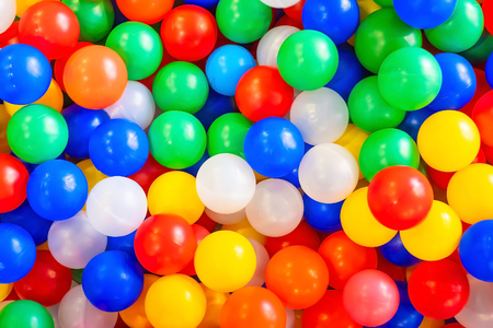 Many colorful plastic balls. Background. Texture