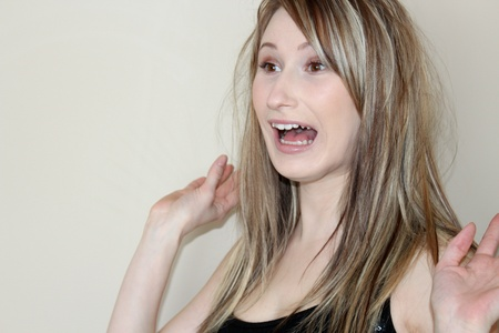 Beautiful shocked woman Stock Photo - 12930515