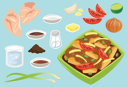 Black Pepper Chicken Ilustrace
