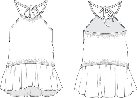 Halter Top Isolated on a White Background 版權商用圖片 - 63746899